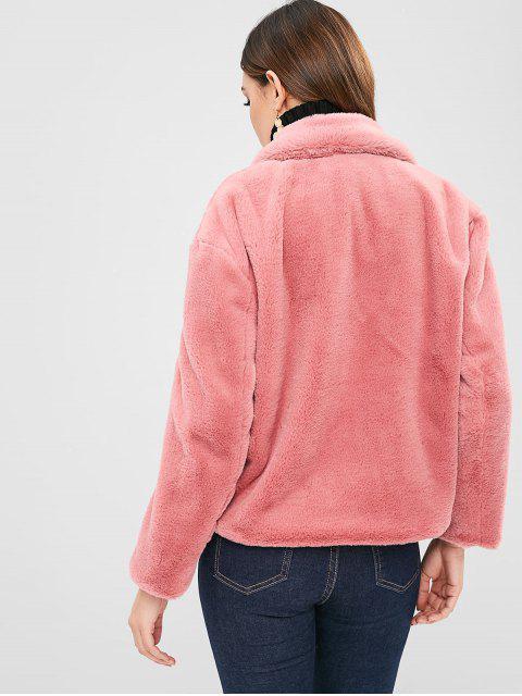 latest Soft Faux Fur Winter Coat - WATERMELON PINK L Mobile