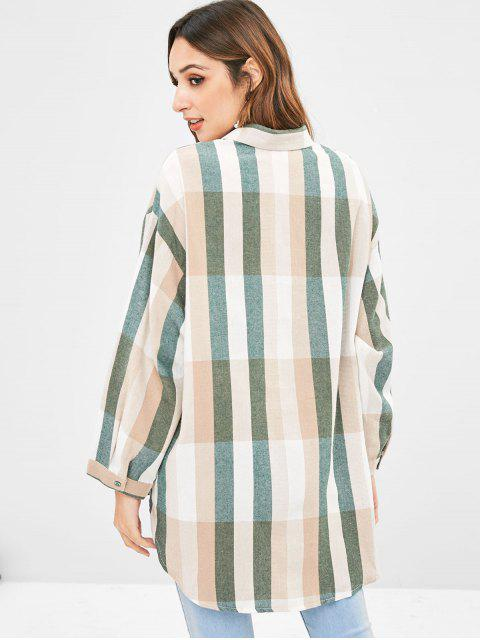 hot Striped Loose High Low Shirt - MULTI ONE SIZE Mobile