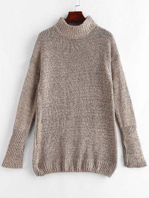 Mock Neck Shift Pullover Kleid