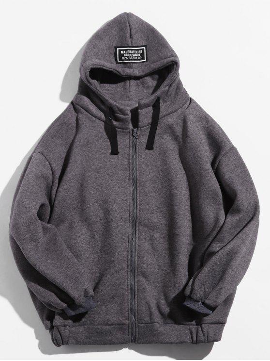 Veste à capuche en molleton - Cendre gris M