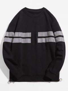 Reflektierendes Sweatshirt Mit Seitlichem Zip-Saum - Schwarz M