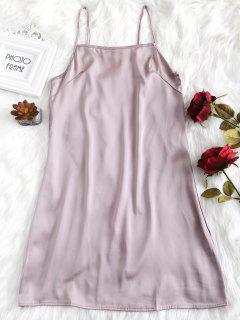 Correa Ajustable De Satén Vestido De Lencería - Lila L