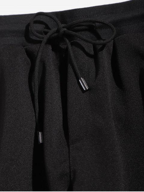 Pantalon Motif de Lettre à Rayure Latérale - Blanc XL Mobile