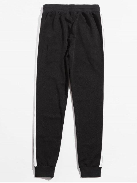 trendy Letter Pattern Side Striped Pants - WHITE 2XL Mobile