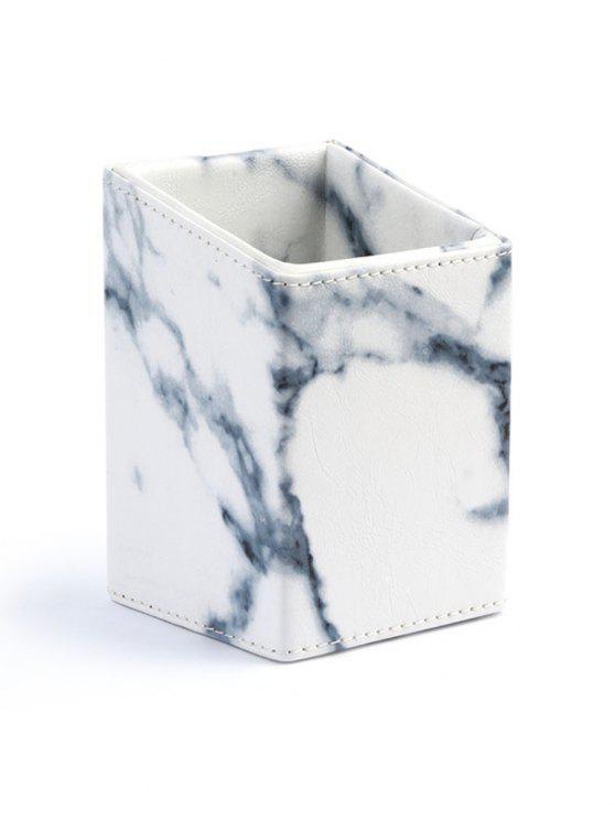 Boîte de Rangement Cosmétiques Pour Brosse - Blanc