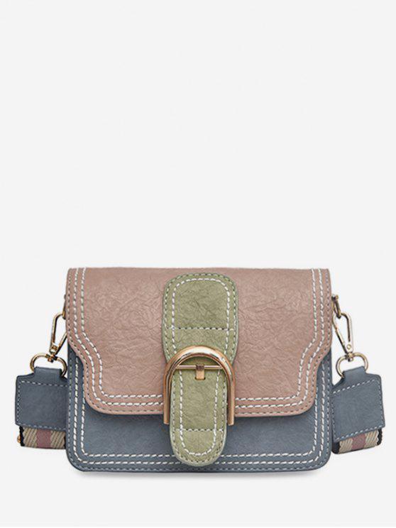 best Striped Shoulder Tape Design Cover Crossbody Bag - LIGHT PINK