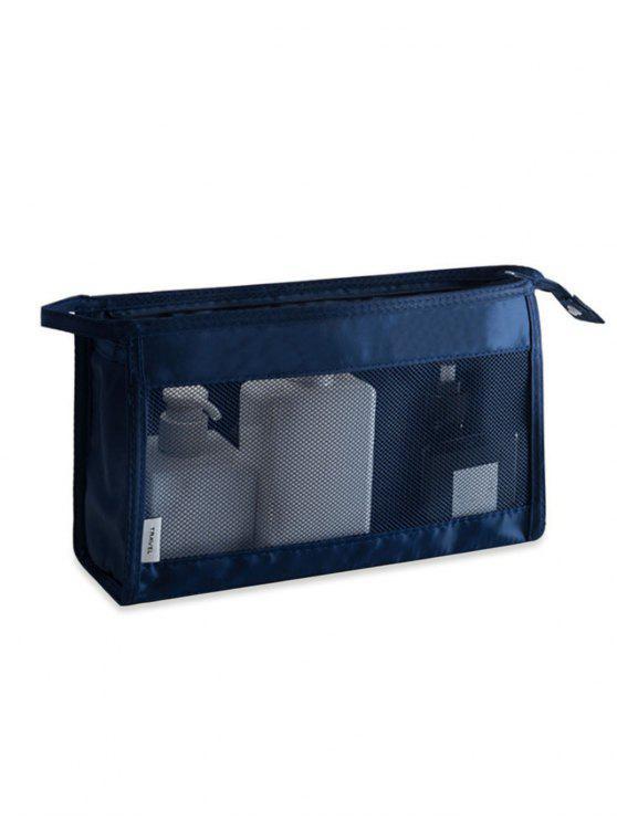 Online Cosmetic Zipper Mesh Toiletry Bag Cadetblue