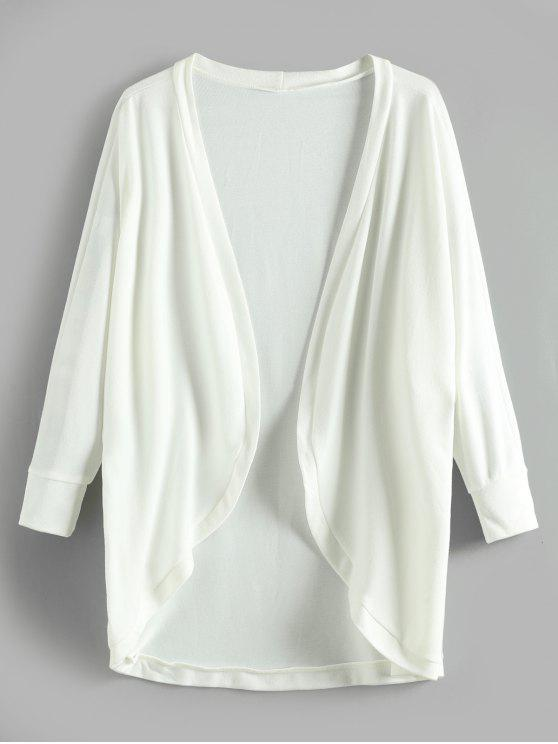 hot Batwing Open Tunic Cardigan - WHITE M