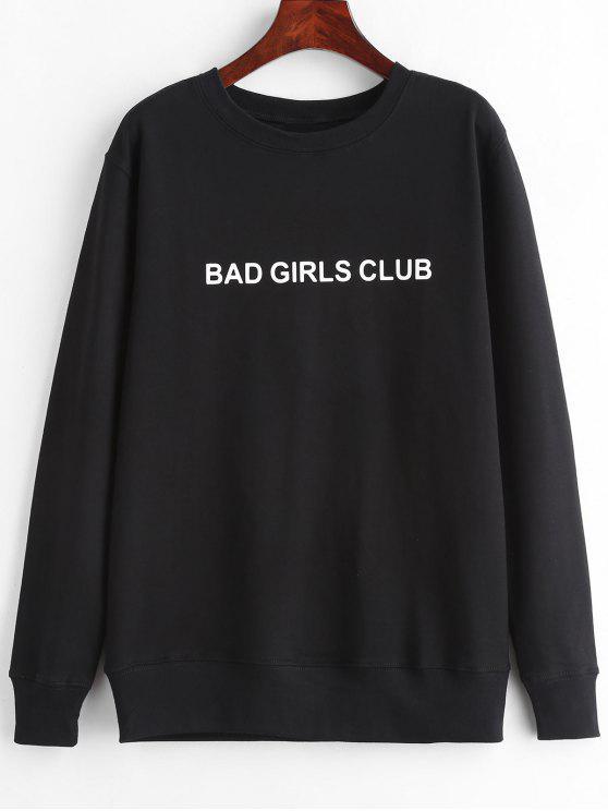Felpa Pullover Grafica Di BAD GIRLS CLUB - Nero 2XL