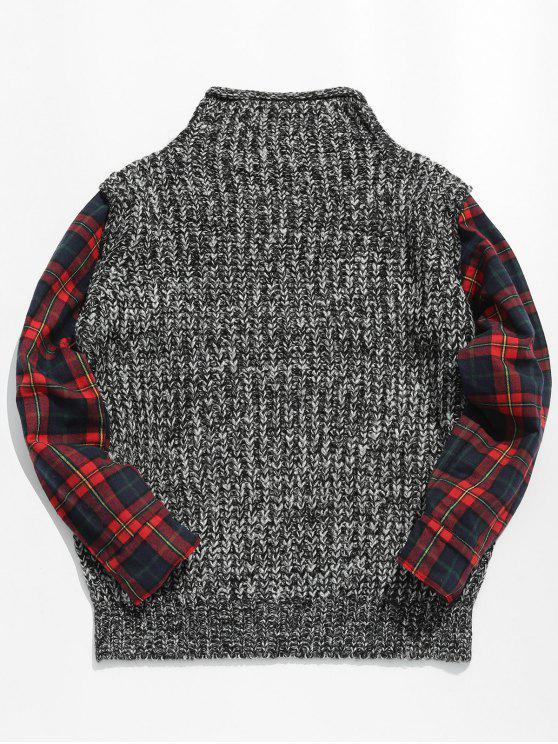 Maglione Pullover A Quadretti - Multi Colori 2XL