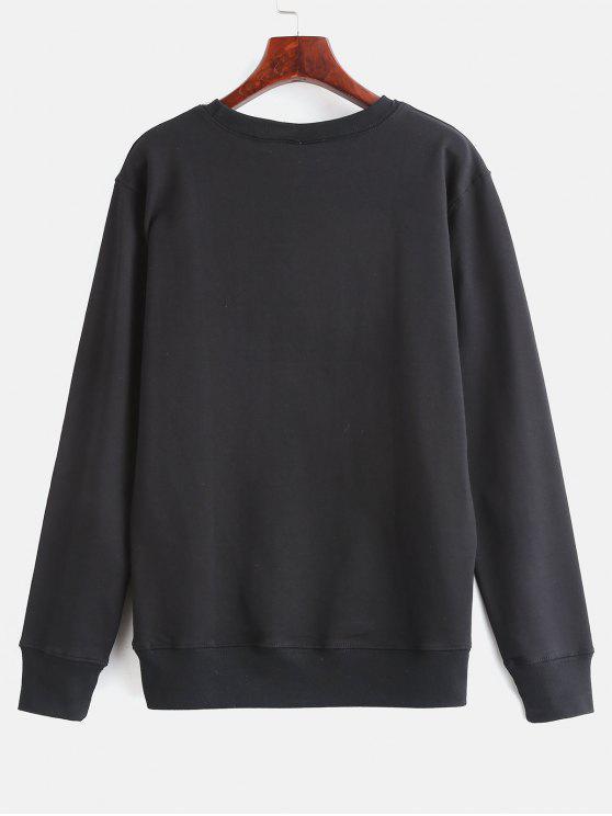 shirt ImpriméNoir Graphique Floral M Sweat lKcFJ1T5u3