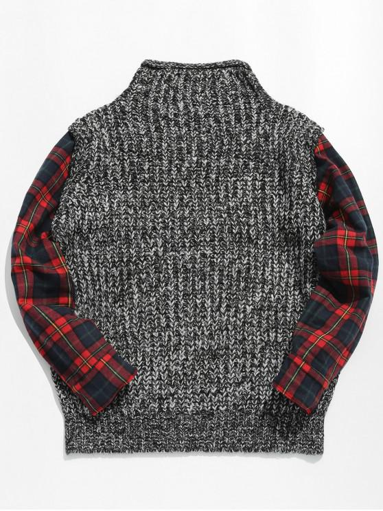 new Faux Twinset Checked Pullover Sweater - MULTI L