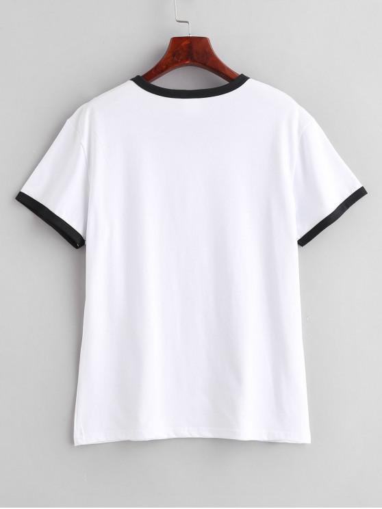 Manches Jersey shirt CourtesBlanc S Graphique T À oBCxQrdWEe