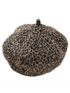 Winter Leopard Painter Beret - Black