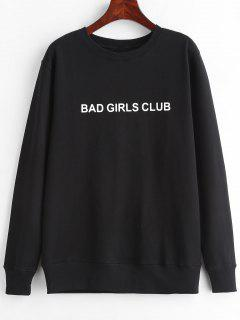 BAD GIRLS CLUB Graphic Pullover Sweatshirt - Black L