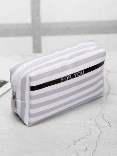 Cosmetic Portable Zipper Travel Cosmetic Bag - Gray Cloud