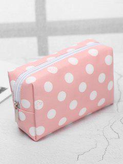 Cosmetic Portable Zipper Travel Cosmetic Bag - Pink