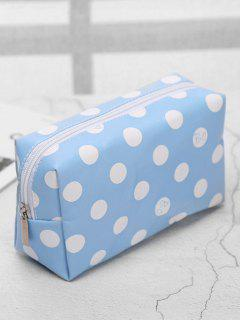 Cosmetic Portable Zipper Travel Cosmetic Bag - Light Sky Blue