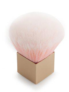 Square Handles Fiber Hair Powder Brush - Pink