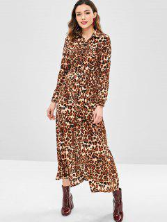 Leopard Belted Dress - Leopard Xl