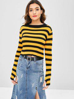 Zweifarbiger Gestreifter Pullover - Multi