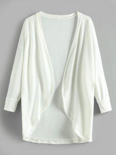 Batwing Open Tunic Cardigan - White M