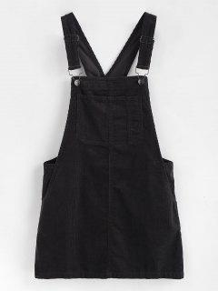 Mini Pinafore Dress - Black L
