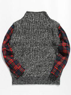 Faux Twinset Checked Pullover Sweater - Multi Xl