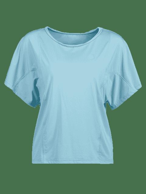 ZAFUL Fledermausärmel T-Shirt - Baby Blau L Mobile