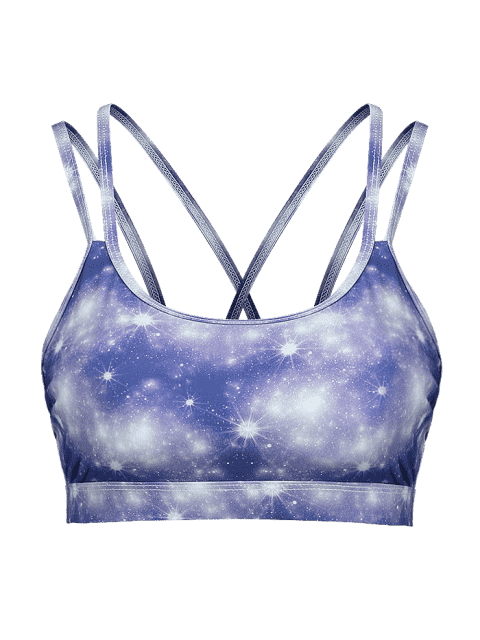ZAFUL Starry Sky Riemchen Sport BH - Multi-A L Mobile