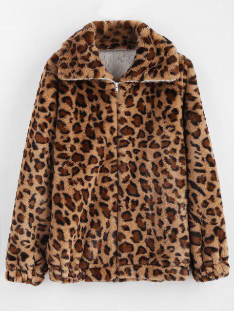 Abrigo de guepardo mullido - Leopardo M Mobile