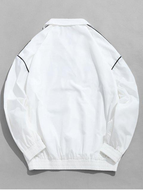 sale Embroidered Letter Pullover Windbreaker Jacket - WHITE XL Mobile