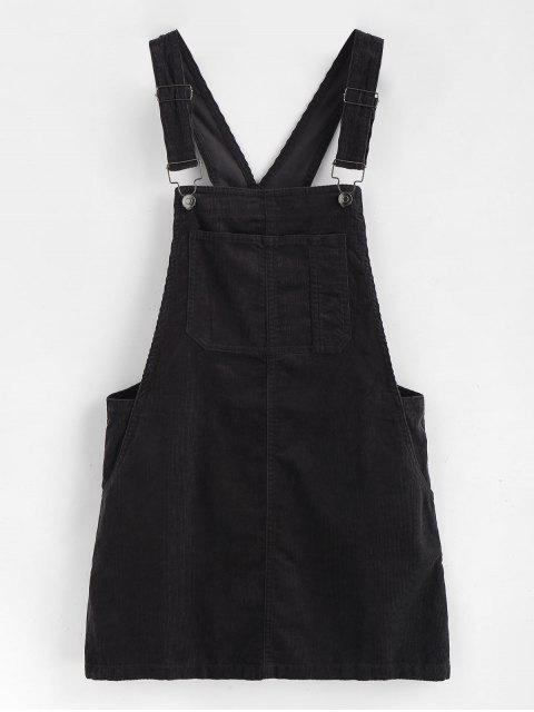 Vestido Mini Pinafore - Negro L Mobile