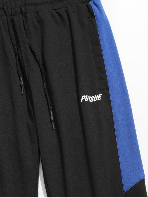Pantalon de Jogging Panneau à Taille Elastique - Bleu Océan 2XL Mobile