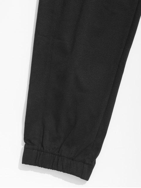 online Panel Elastic Waist Jogger Pants - OCEAN BLUE 3XL Mobile