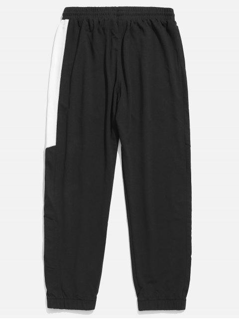 shop Panel Elastic Waist Jogger Pants - WHITE 3XL Mobile