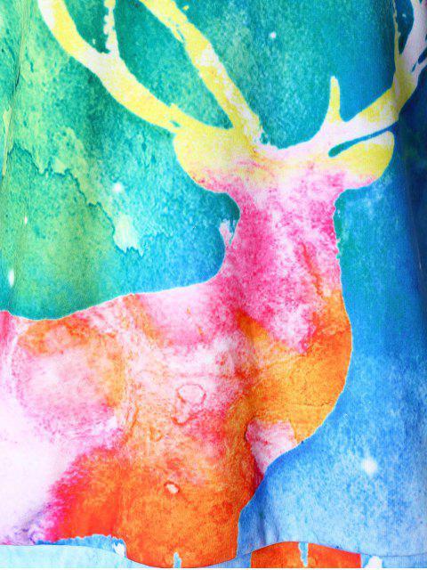 Sudadera Estampada Navidad Elk - Multicolor 2X Mobile