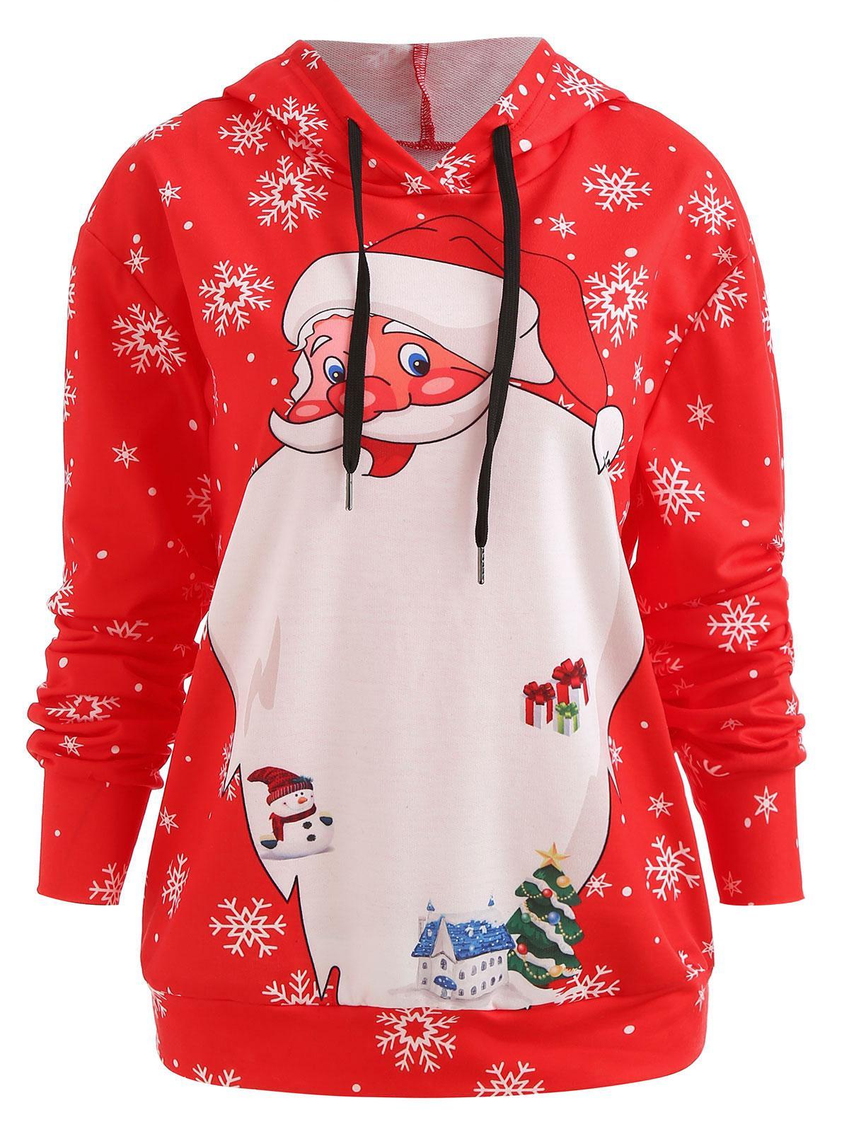 Christmas Santa Drawstring Hoodie