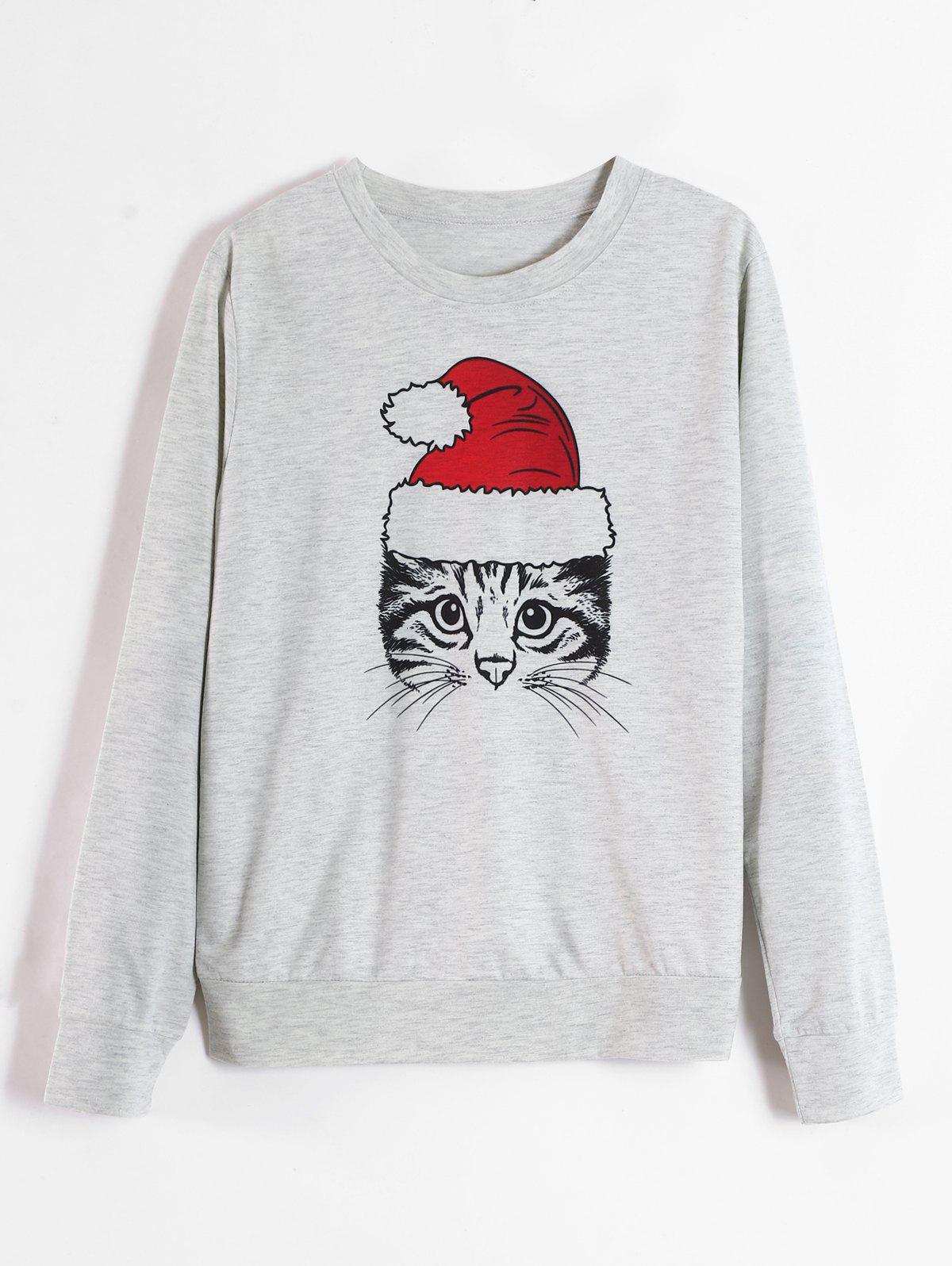 Cat Graphic Christmas Sweatshirt thumbnail