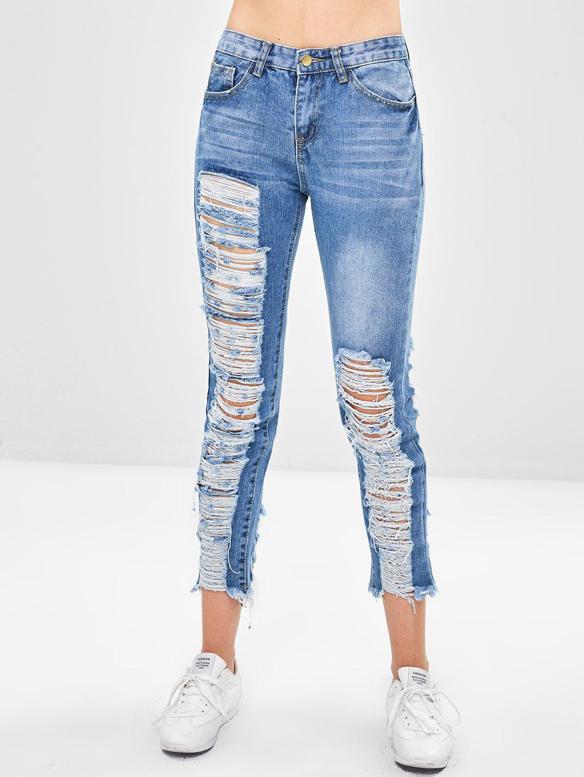 Middle Waist Ripped Jeans 316287703