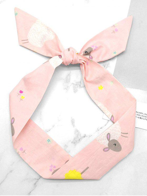 best Stylish Floral Cloud Silky Hair Scarf - PINK