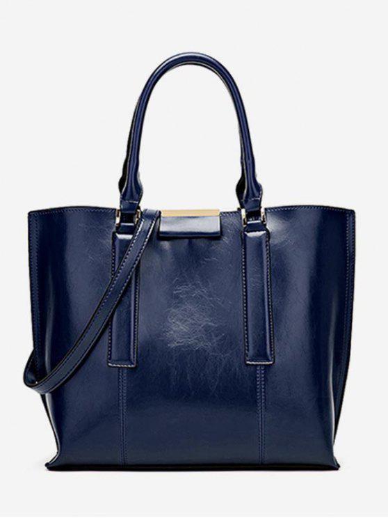 women's Large Capacity Magnet Hook Design Tote Bag - DEEP BLUE