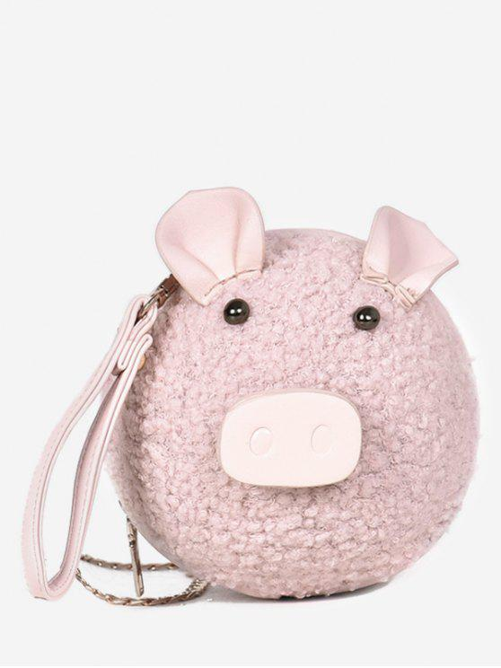 trendy Pig Pattern Round Tote Bag - LIGHT PINK