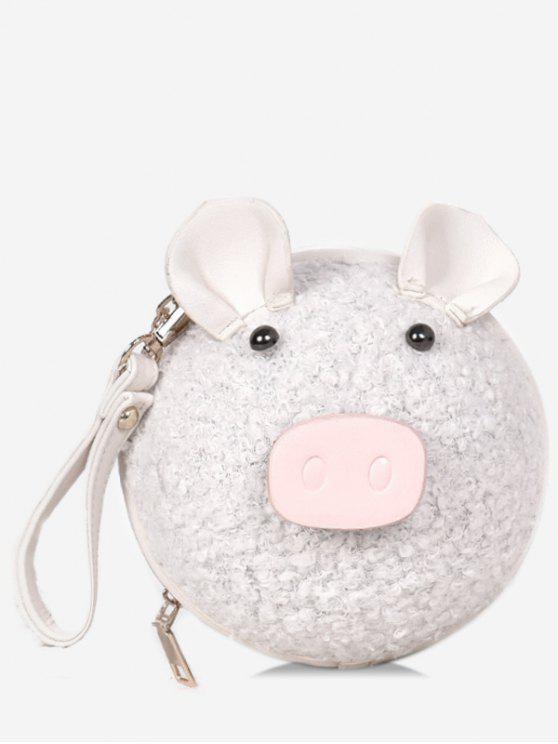 buy Pig Pattern Round Tote Bag - BEIGE
