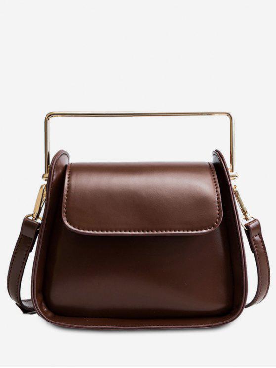 outfit PU Design Cover Handbag - COFFEE