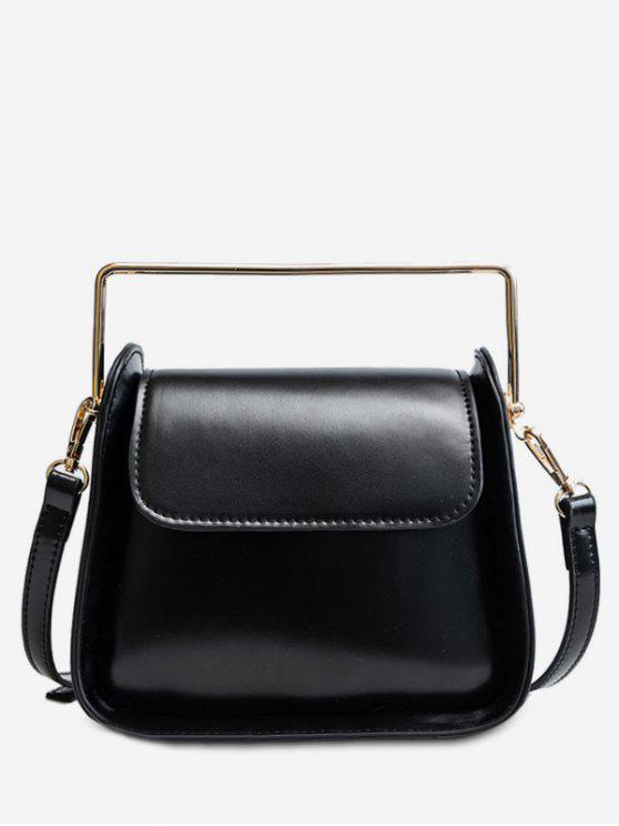 shops PU Design Cover Handbag - BLACK