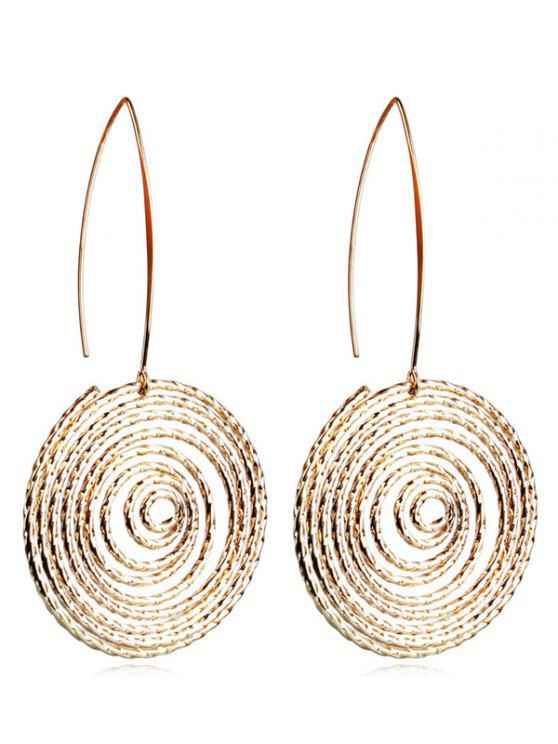 online Alloy Hollow Out Geometric Hook Earrings - GOLD