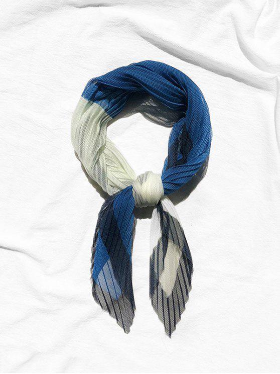 shops Pleated Textured Elegant Scarf - LAPIS BLUE