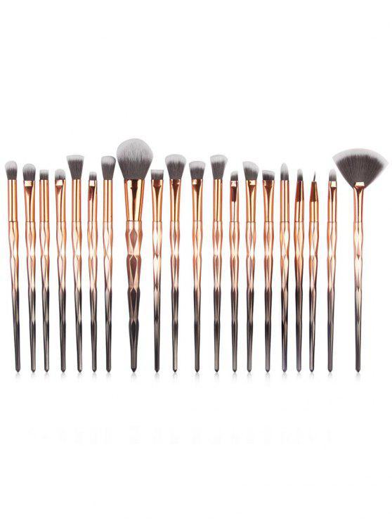 chic Cosmetic 20 Pcs Ultra Soft Fiber Hair Eyeshadow Blending Fan Brush Set - MULTI