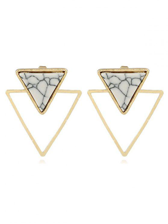outfits Geometric Hollow Design Marble Earrings - GOLD